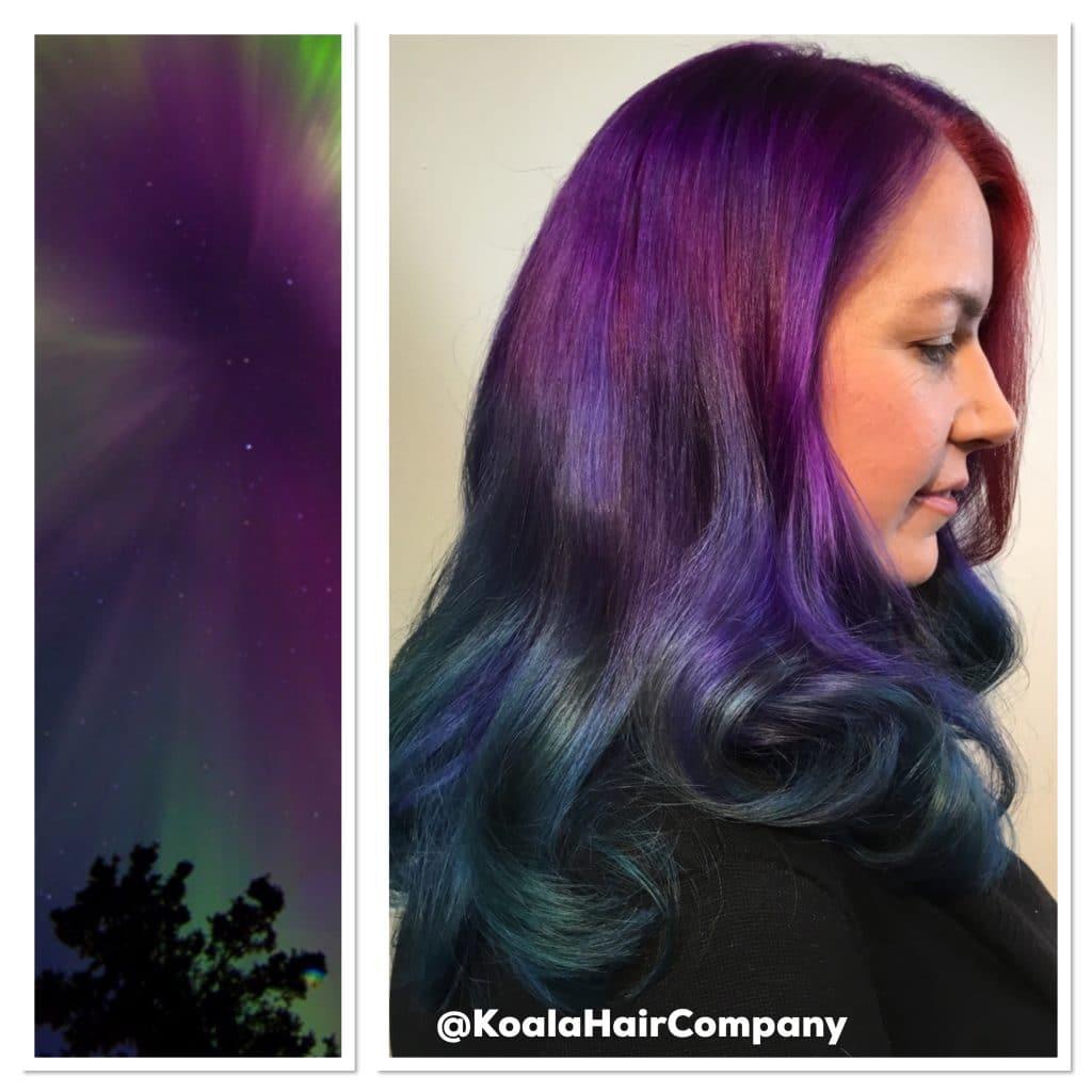 Aurora Borealis Inspired Balayage