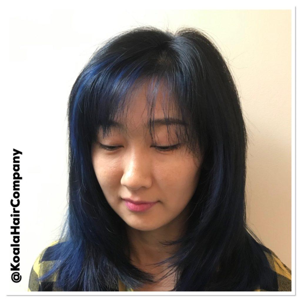 Balayage Sapphire Blue